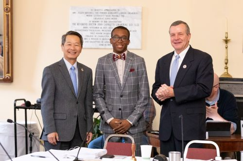 Michael Adeyanju with President Hsu and David Hay